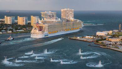 Harmony of the Seas מפליגה מפורט לודרדייל. צילום: רויאל קריביאן